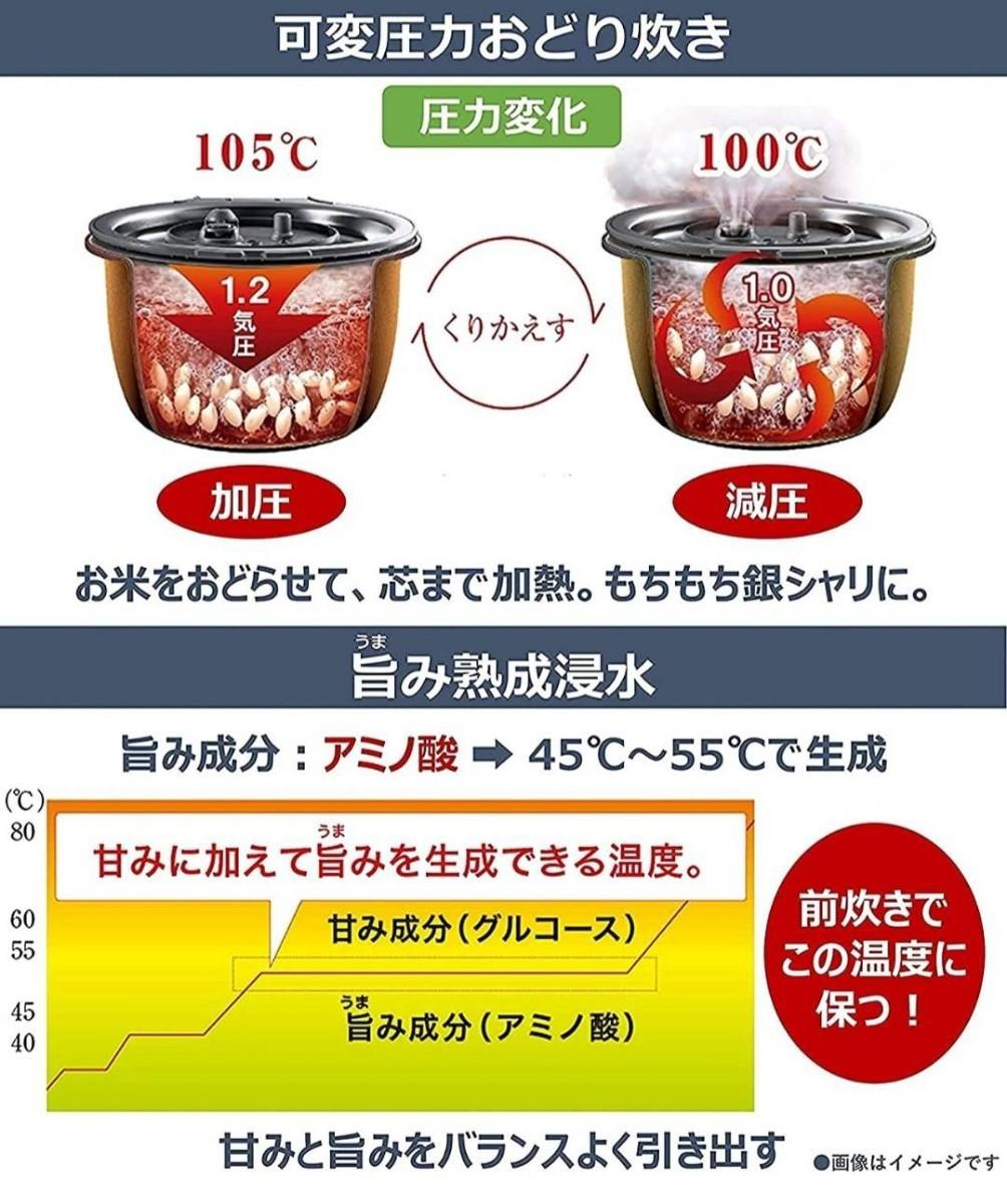 【1年保証付き】パナソニック 可変圧力IH炊飯器Wおどり炊きSR-MPA100  Panasonic