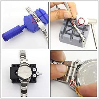 sibling 腕時計 修理ツール 腕時計修理工具 電池交換 ベルト交換 バンドサイズ調整 時計修理ツール バネ外し 裏蓋開け _画像6