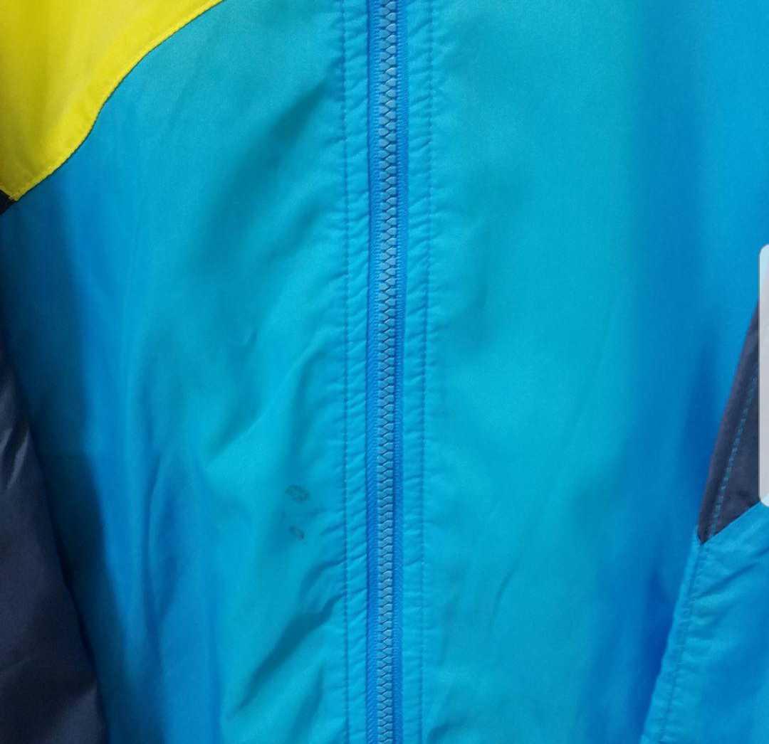 NIKE ナイキ トラックジャケット ナイロンジャケット ジャージ 上 サイズL 90s 90年代 長袖 好配色 シンプルロゴ スウォッシュ 銀タグ 刺繍