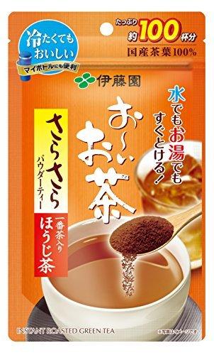 80g (袋タイプ) 伊藤園 おーいお茶 さらさらほうじ茶 80g (チャック付き袋タイプ)_画像4