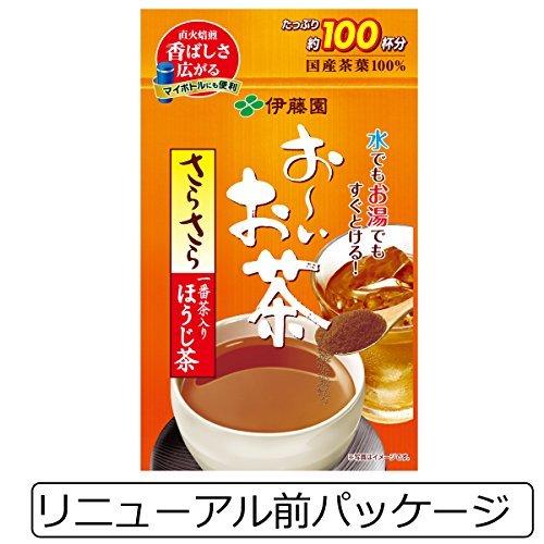 80g (袋タイプ) 伊藤園 おーいお茶 さらさらほうじ茶 80g (チャック付き袋タイプ)_画像2
