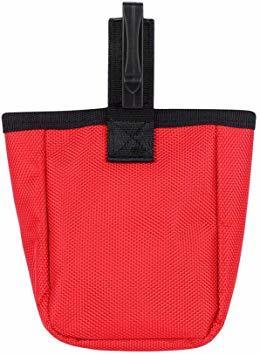 赤い フリーサイズ ペット 訓練バッグ 犬用ポーチ お菓子バッグ ウエストバッグ 餌入れ フック付き お散歩バッグ 多機能 大容_画像2
