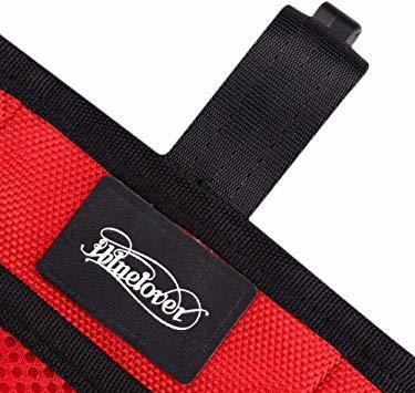 赤い フリーサイズ ペット 訓練バッグ 犬用ポーチ お菓子バッグ ウエストバッグ 餌入れ フック付き お散歩バッグ 多機能 大容_画像5