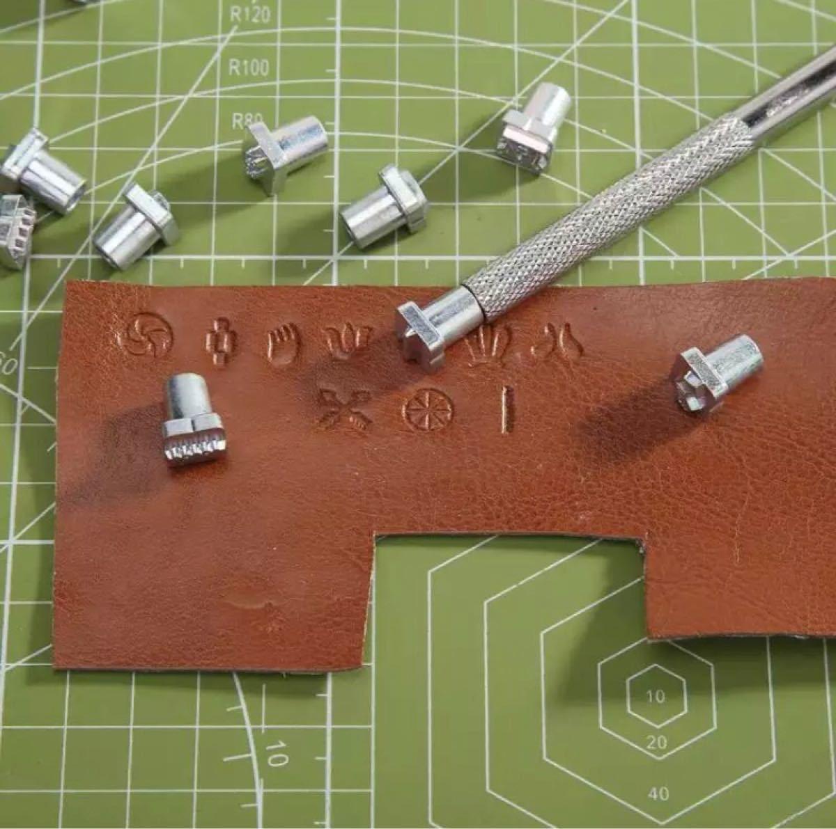レザークラフト 43個セット 刻印 メタルスタンプ 革細工 新品未使用品