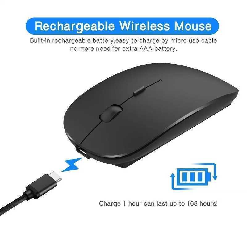 ピンク 薄型 静音 無線マウス USB充電式 2.4GHz USBレシーバー ワイヤレスマウス