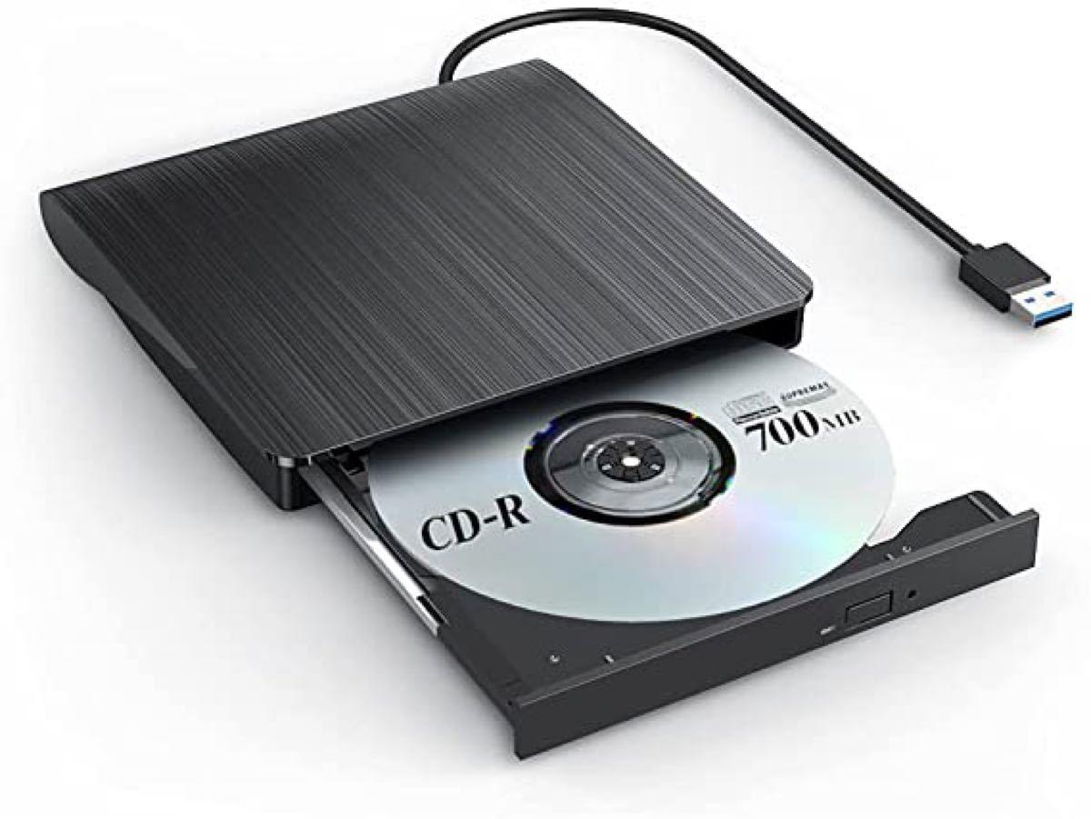 外付けDVDドライブ DVDプレイヤー ポータブル DVD±RW DVD USB3.0 Window 薄型
