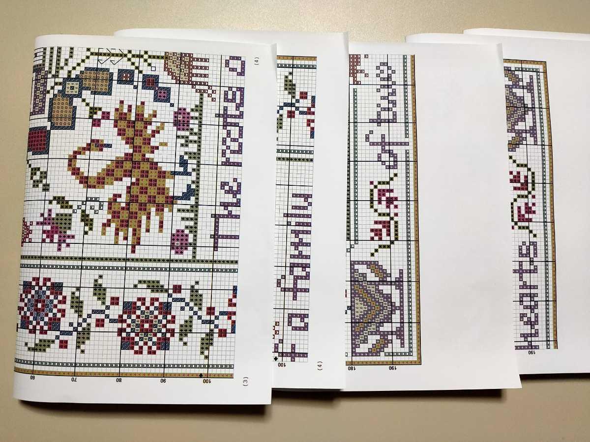 クロスステッチキット カントリーレトロモチーフ 18CT 刺繍キット