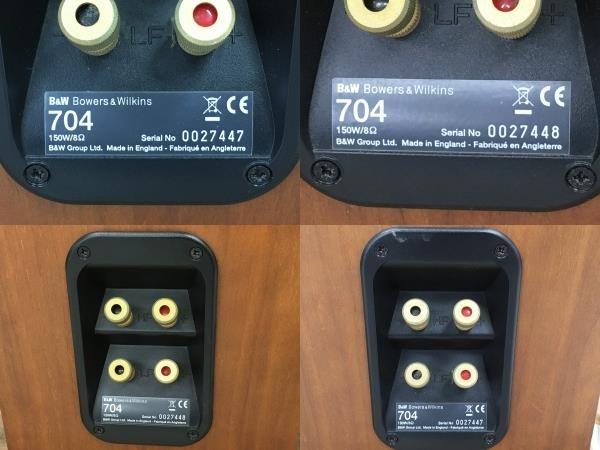 【引取限定】B&W Bowers & Wilkins 704 トールボーイ スピーカー ペア オーディオ 音響機器 中古 直W5910429_画像10