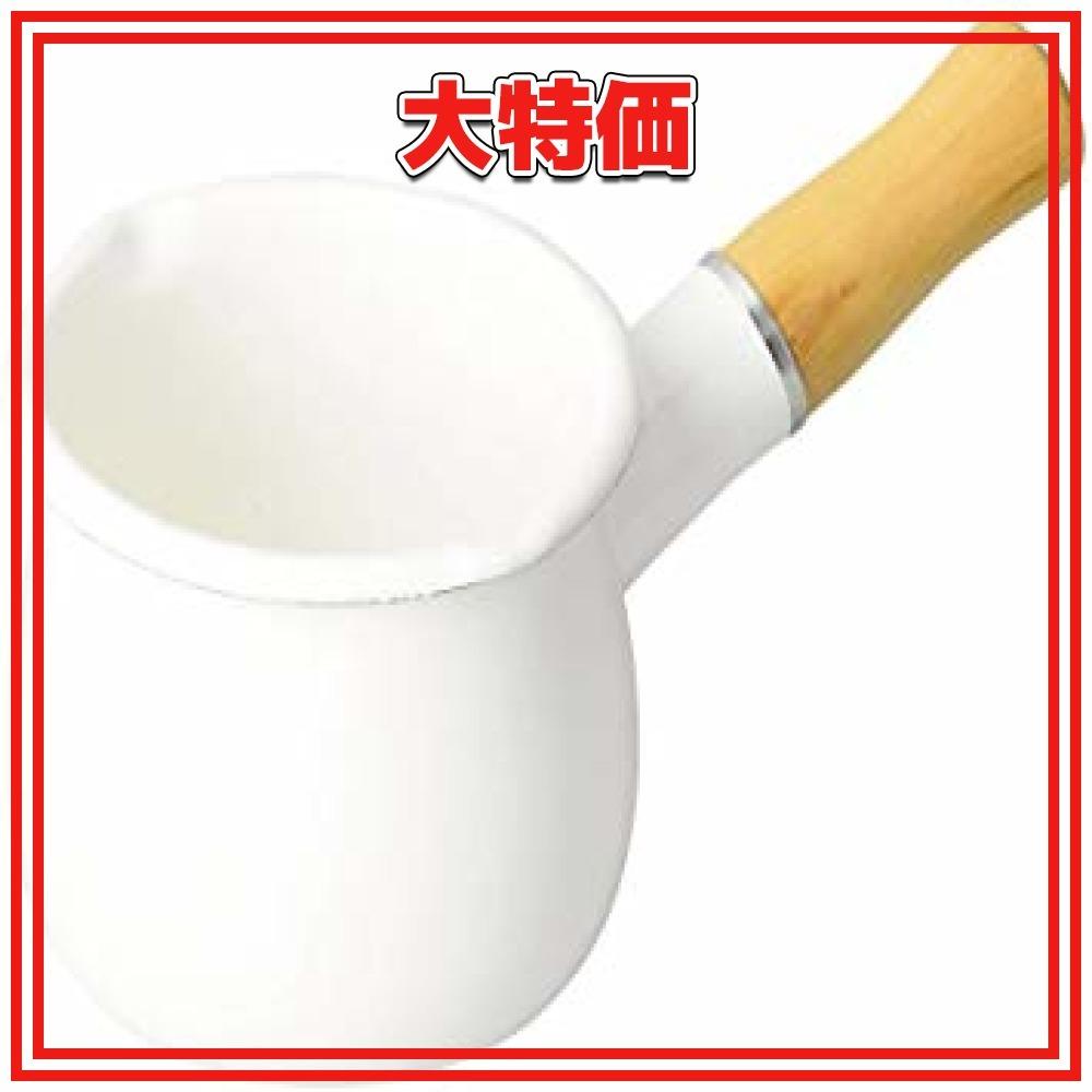 ホワイト 10cm パール金属 ミルクパン 10cm ホーロー ブランキッチン ホワイト HB-3676_画像1