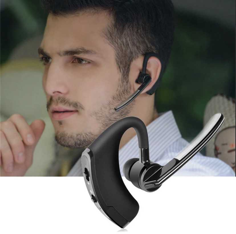1円~!送料無料!最新モデル Bluetooth イヤホン ワイヤレス ハンズフリー 片耳 耳掛け マイク ヘッドセット 左右兼用 日本語説明書付 _画像7