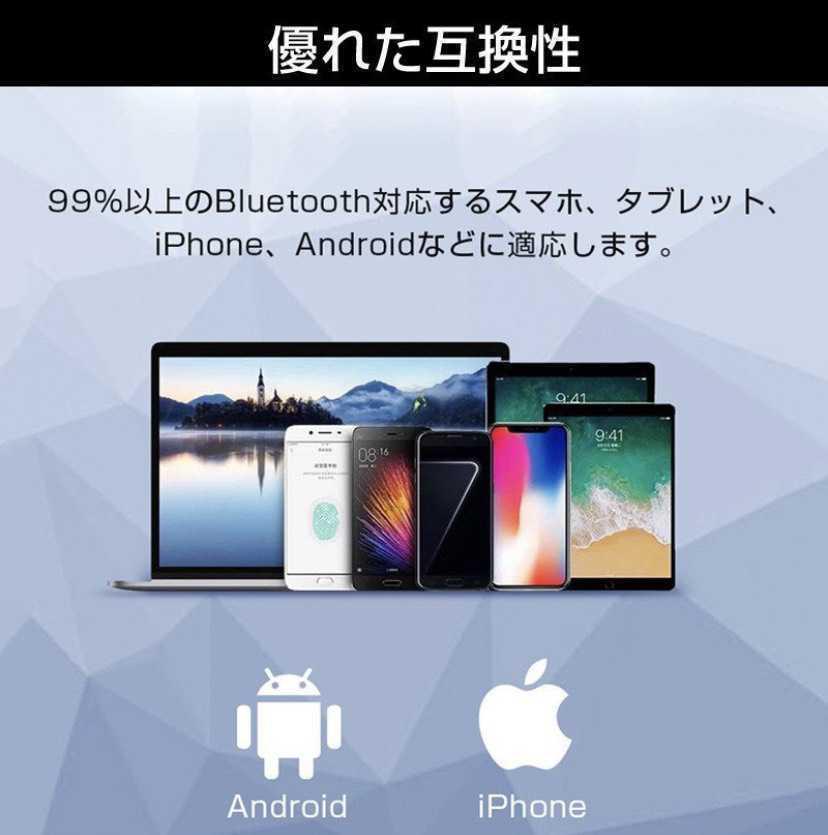 1円~!送料無料!最新モデル Bluetooth イヤホン ワイヤレス ハンズフリー 片耳 耳掛け マイク ヘッドセット 左右兼用 日本語説明書付 _画像8