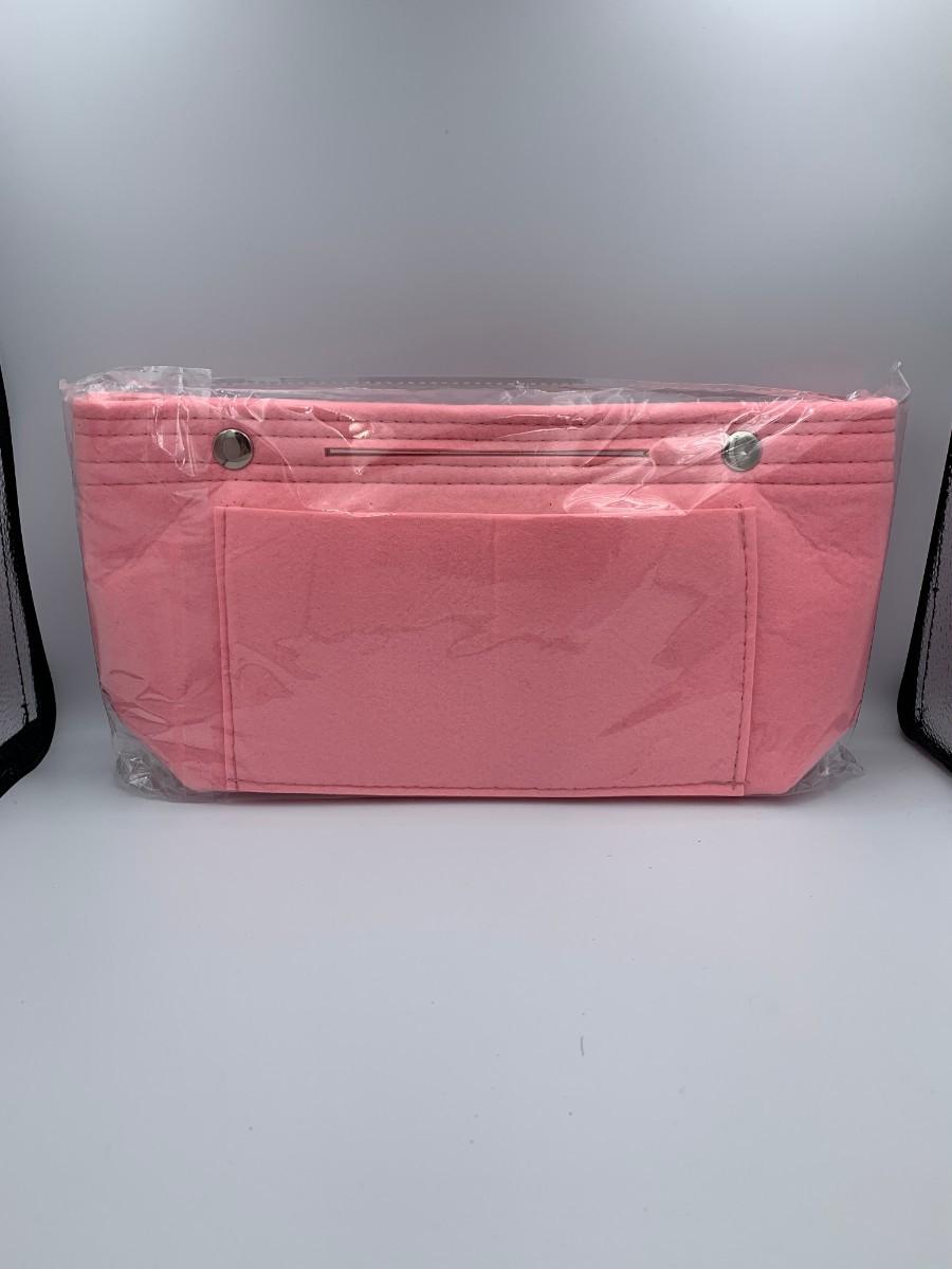 バックインバック ピンク フェルト おしゃれ 軽量 インナーバッグ 化粧ポーチ バッグインバッグ インナーバッグ
