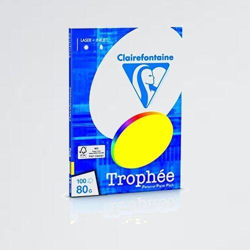 新品 好評 プリンタ-用紙 クレ-ルフォンテ-ヌ 0-XA トロフェ A4 80g/㎡ 紙厚0.107mm 濃色 100枚入り (5色アソ-ト) pcf1876/0_画像1