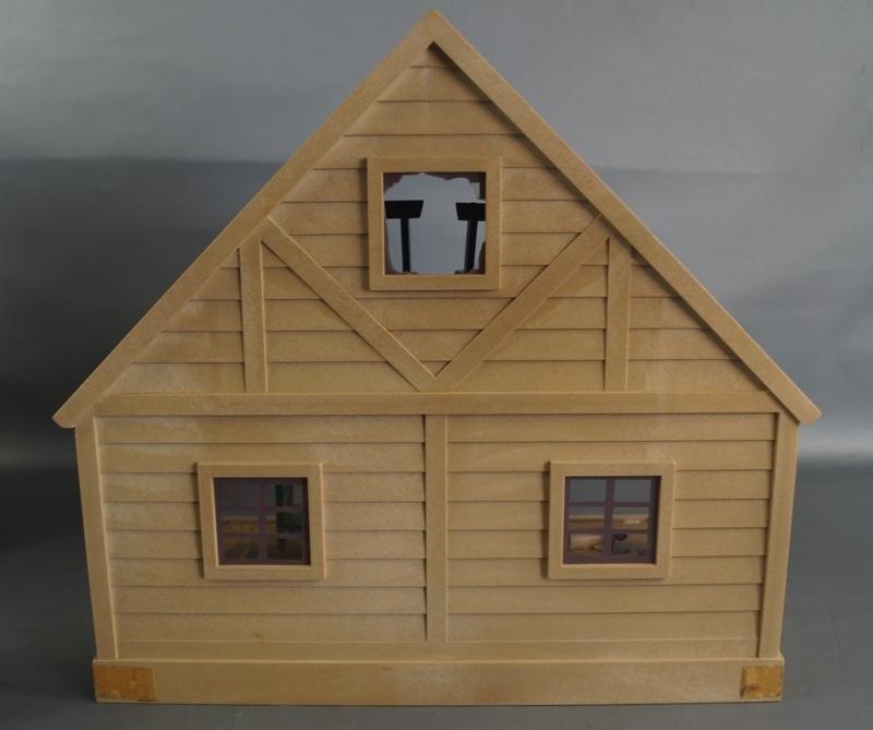 bb16 当時物 エポック社 シルバニアファミリー ハウス 家 レトロ 玩具 箱 家具 人形 小物付き_画像10