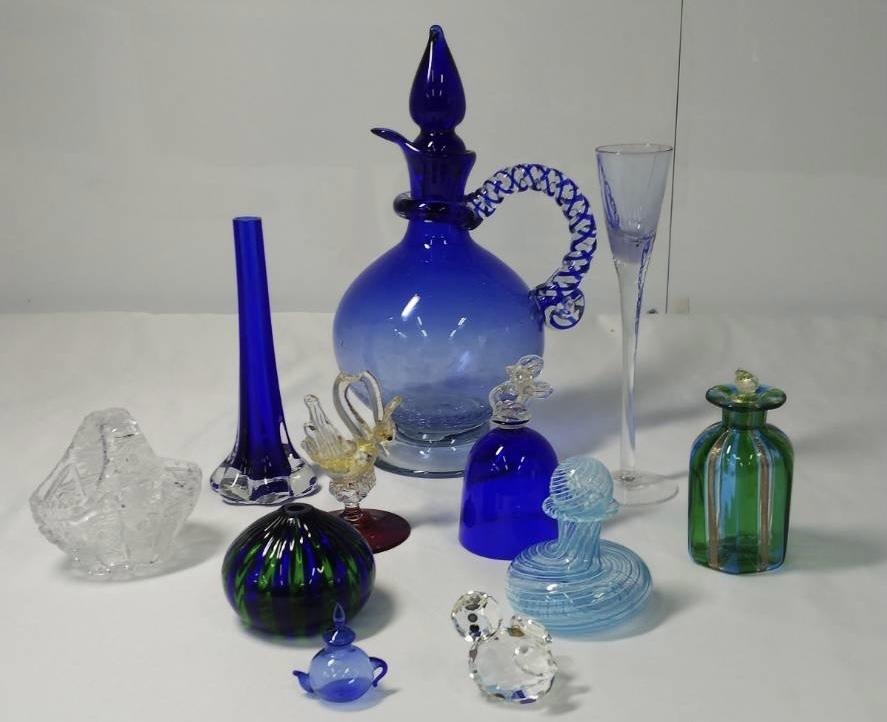 CHIAB40 ☆綺麗なガラスの置物・インテリア・クリスタル・小物・小瓶・まとめて☆【1円スタート】アンティーク