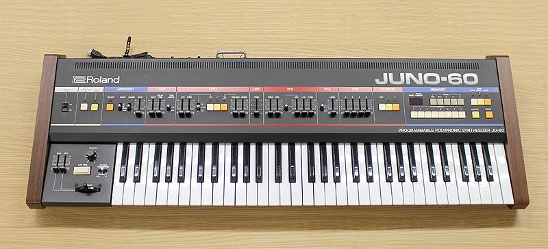 ★美品 Roland/ローランド Polyphonic Synthesizer JUNO-60 61鍵 アナログシンセサイザー キーボード ヴィンテージ ジュノ 80's_画像1