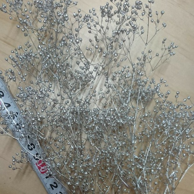かすみ草 カスミ草 シルバー プリザーブド 花材 ドライフラワー ハンドメイドハーバリウム髪飾り はなかんむりドライフラワーリース