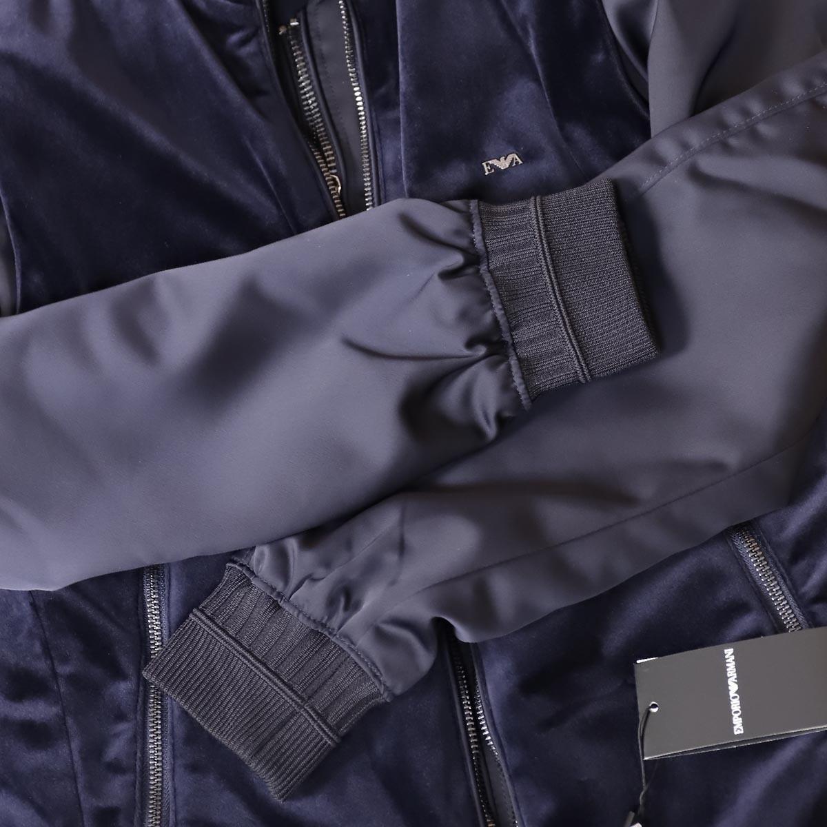 本物 新品 アルマーニ ダブルジップ 3WAY ベロアベスト付きフルジップブルゾン メンズ46 アウター ジャケット EMPORIO ARMANI_画像5