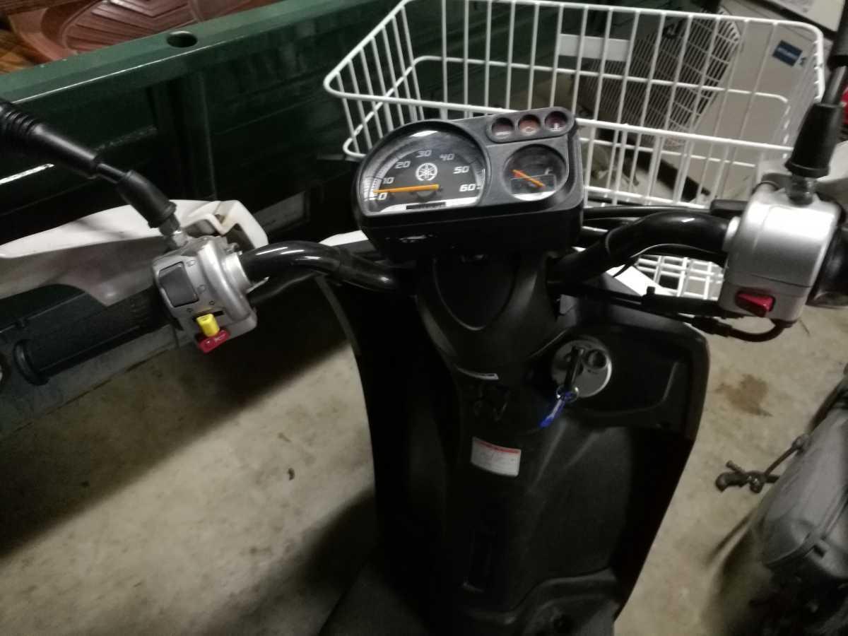 「福岡 GEAR 4スト セル1 カゴ付き つやあり比較的綺麗 4万キロ ハンドルカバー付き 原付き バイク」の画像3