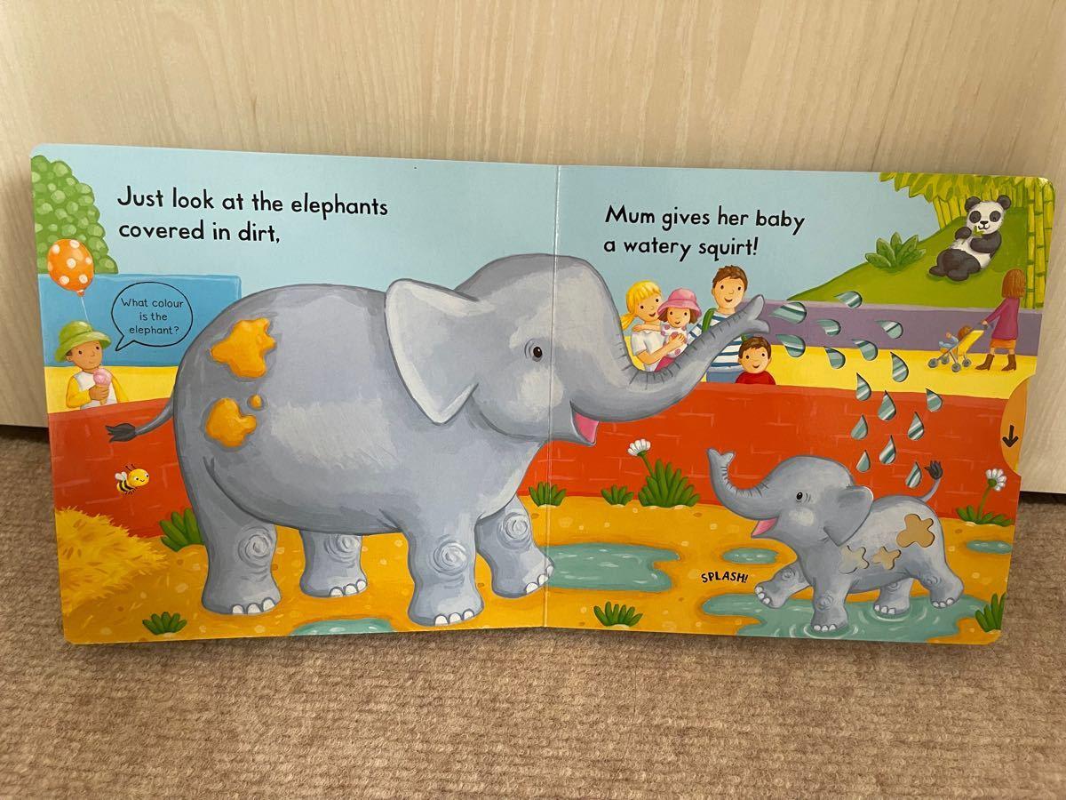 英語絵本 しかけ絵本 busy zoo