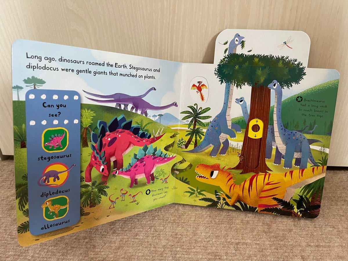 英語絵本 しかけ絵本 dinosaurs