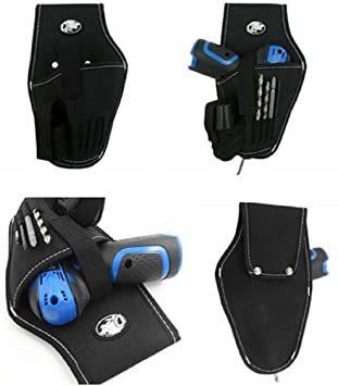 電動ドリルタイプ 工具用ウエストバッグ 大工 電工用 作業効率の良い機能設計 工具差し 工具袋 ポーチ腰袋 ベルトポーチ ツー_画像5