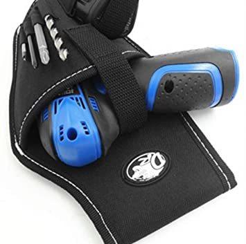 電動ドリルタイプ 工具用ウエストバッグ 大工 電工用 作業効率の良い機能設計 工具差し 工具袋 ポーチ腰袋 ベルトポーチ ツー_画像2