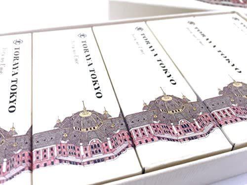 赤字処分!即決!化粧箱 東京駅舎 限定パッケージ TOKYO N918 TORAYA 12本入 「夜の梅」 小形羊羹 とらや_画像3