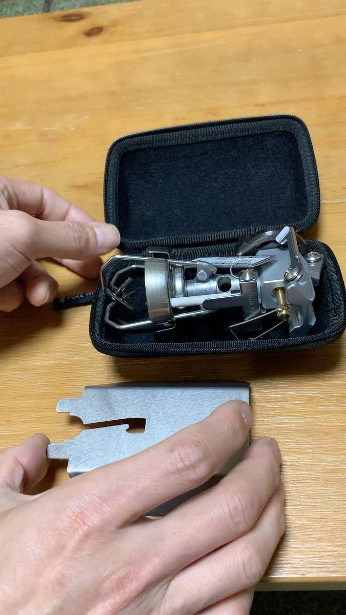 イワタニ マイクロキャンプストーブ FW-MS01専用 チタン製遮熱板