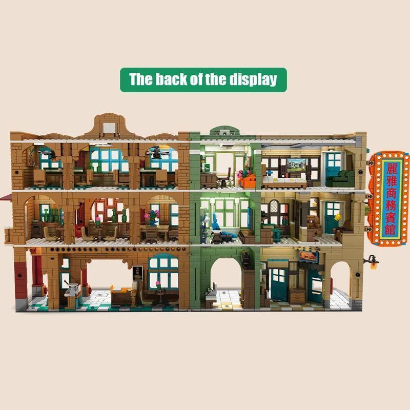 LEGO互換 香港の街 人形12体、照明付_画像3