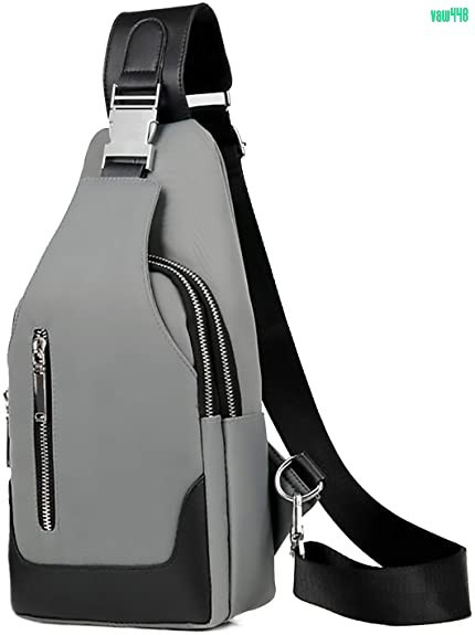 USBポート搭載ボディバッグ メンズ 斜めがけ 大容量 軽量 防水 ワンショルダーバッグ 肩掛けバッグ 盗難防止 iPadmini収納可能 グレー