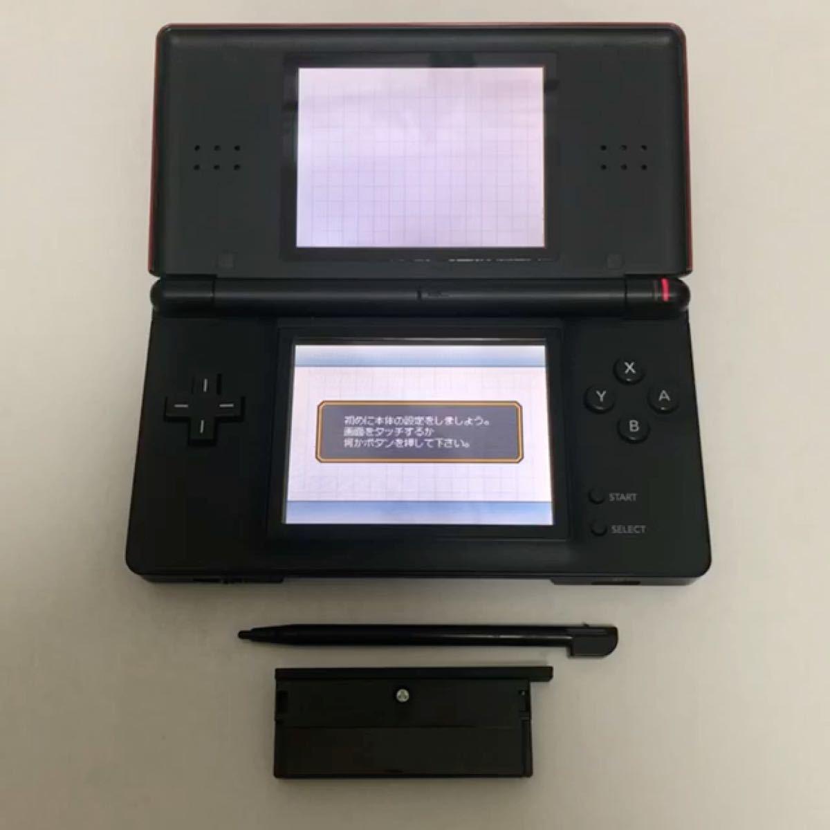 タイムセール! 任天堂 ニンテンドーDS Lite クリムゾン/ブラック 本体 ゲーム起動確認済