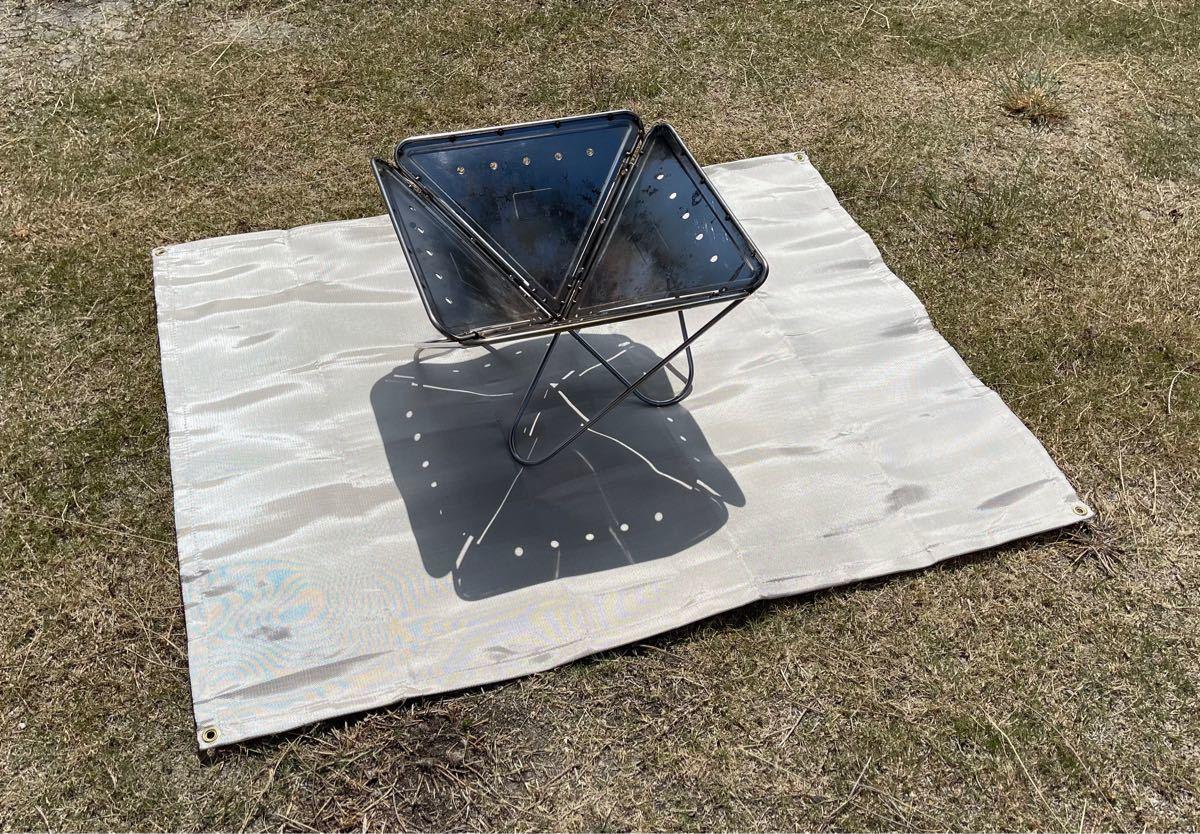 焚き火台シート 120×93センチ 焚火シート ソロキャン キャンプ