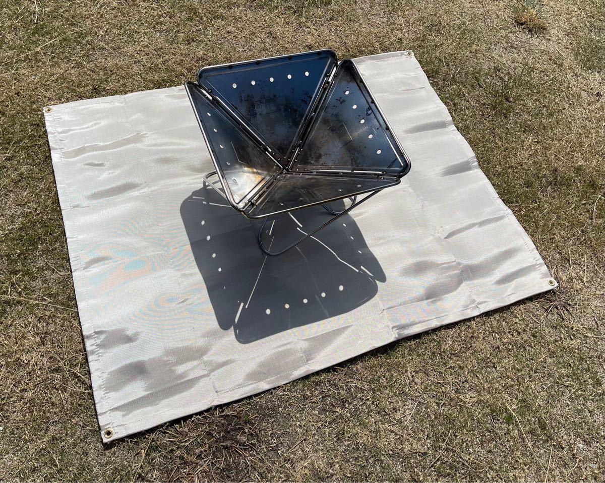 焚き火台シート 120×93センチ 焚火シート ソロキャン