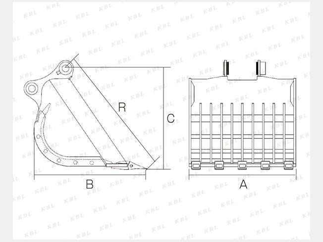 「アタッチメント(建設機械) その他メーカー スケルトンバケット 6-8tショベル用100×150mm網目 0.25」の画像2