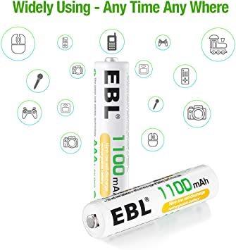 単4電池 EBL 単4電池 充電式電池 1100mAhニッケル水素充電式電池、収納ケース付き8パック 単四電池 充電池_画像6