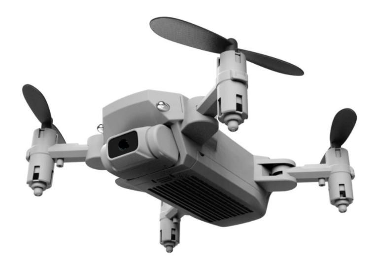 【ドローン】 折りたたみ式アーム、小型、持ち運びに便利 カメラ無し グレー