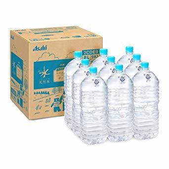 2リットル (x 9) [Amazon限定ブランド] #like アサヒ おいしい水 天然水 ラベルレスボトル 2L&times_画像1