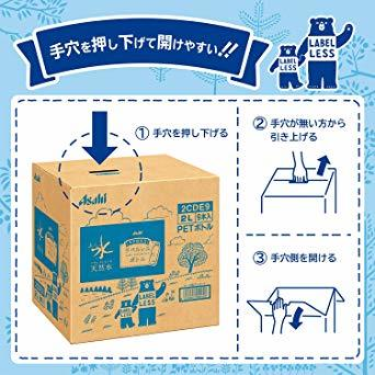 2リットル (x 9) [Amazon限定ブランド] #like アサヒ おいしい水 天然水 ラベルレスボトル 2L&times_画像3