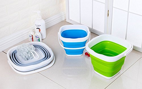 グレー 5L EtetnalWings 正方形 折りたたみ バケツ 洗車 掃除 洗濯 アウトドア 園芸 釣り コンパクト 収納 _画像5
