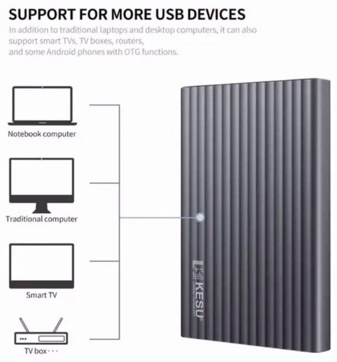 外付けHDD ポータブル モバイル ハードディスク 250GB アルミ合金