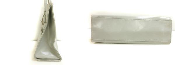 シャトーベルサイユ CHATEAU DE VERSAILES トート バッグ ハンド 手提げ エコレザー ライトグレー系 かばん 鞄 レディース_画像3