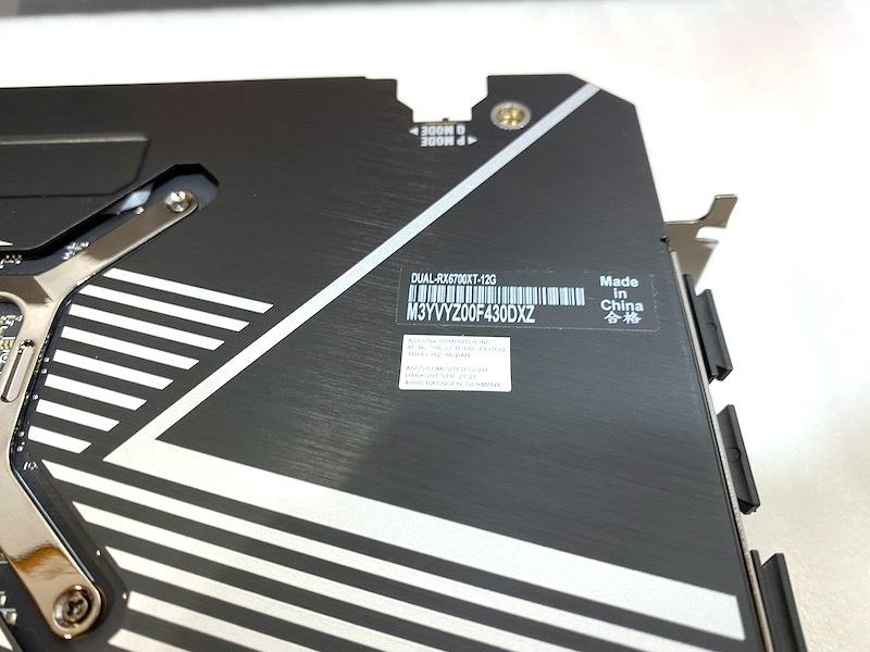 20 2009 год  апрель  покупка ★ASUS DUAL-RX6700XT-12G  графика  доска    видеокарта   подержанный товар