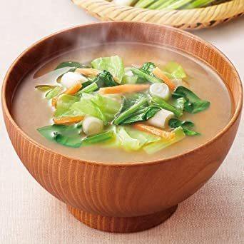 新品アマノフーズ フリーズドライ 味噌汁 ( なす わかめ 野菜 ) 3種類 30食 うちの おみそ汁 小袋ねぎ1袋WS6I_画像5