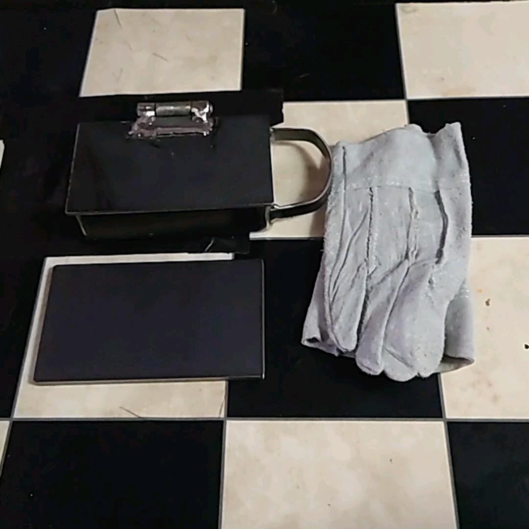 バーベキュー枠付き鉄板158×94×35 革手袋6ミリ鉄板付き