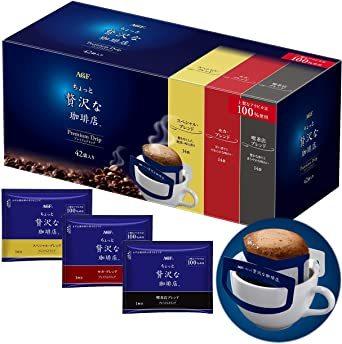 42袋 AGF ちょっと贅沢な珈琲店 レギュラーコーヒー プレミアムドリップ アソート 42袋 【 ドリップコーヒー_画像1