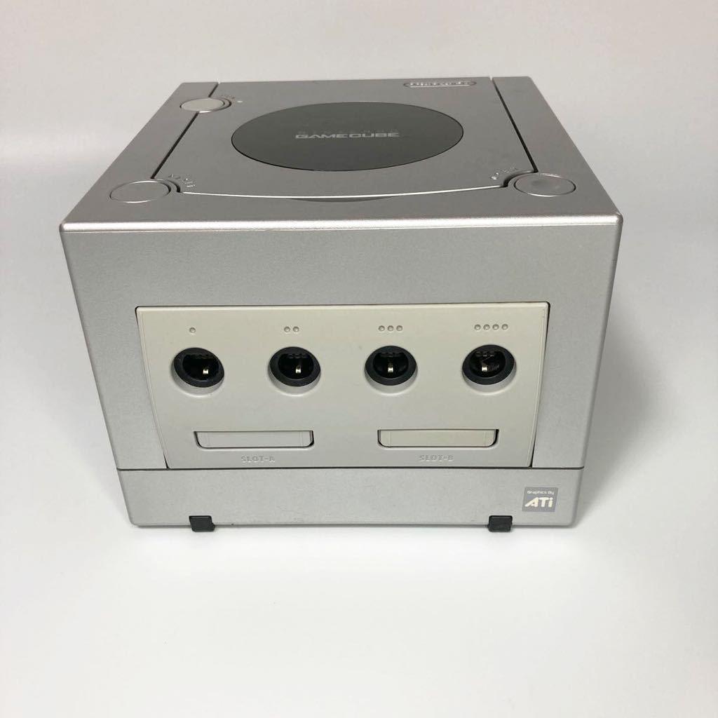 ★動作確認済み★ ゲームキューブ シルバー GAME CUBE 本体 電源アダプタ GC 任天堂 Nintendo
