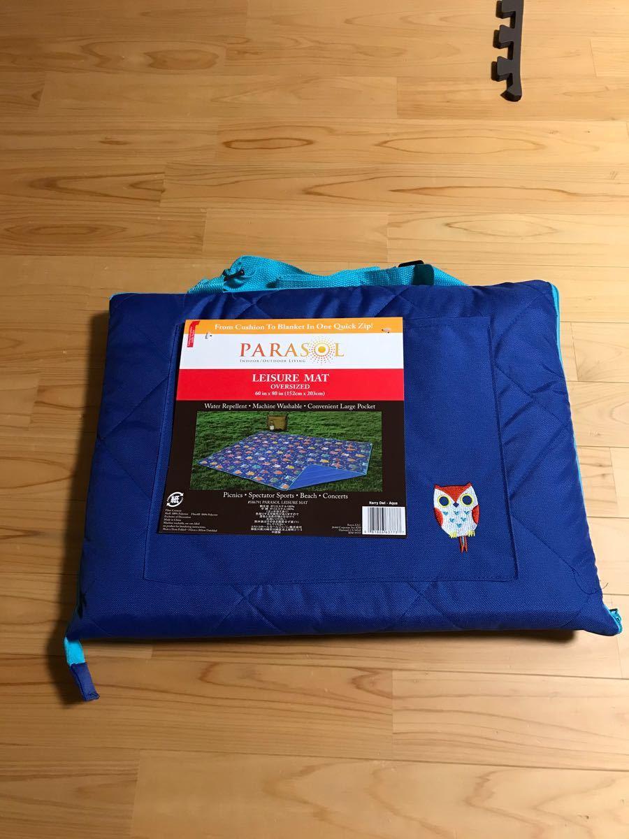 コストコ レジャーシート レジャーマット 青 ブルー フクロウ 洗える アウトドア 運動会 遠足 Parasol
