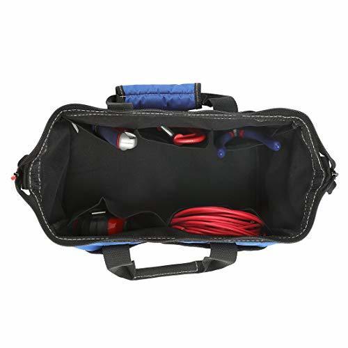 【ご入金後3日以内発送】サイズ13-Inch WORKPRO ツールバッグ 工具差し入れ 道具袋 工具バッグ 大口収納 600Dオ_画像3