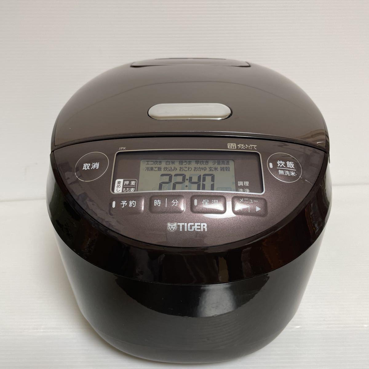 未使用/展示品 タイガー 圧力IH炊飯ジャー JPK-B180ブラウンT 1.8L